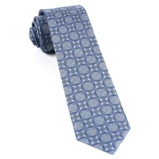 Medallion March Sky Blue Tie