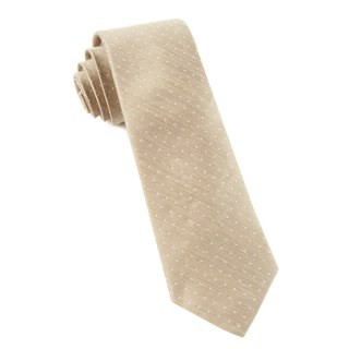 Destination Dots Champagne Tie