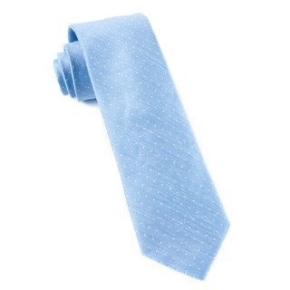 Destination Dots Light Blue Tie