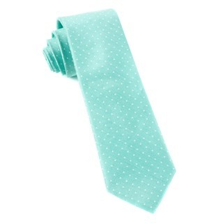 Destination Dots Mint Tie