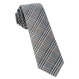 Columbus Plaid Grey Tie