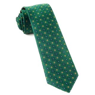 Midtown Medallions Hunter Green Tie