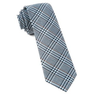 Columbus Plaid Light Blue Tie