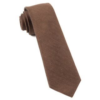 Linen Row Chocolate Brown Tie