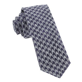 Houndstooth Thrill (Fs) Eggplant Tie