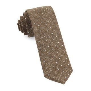 Knotted Dots Brown Tie