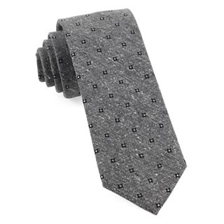 Medallion Ridges Grey Tie