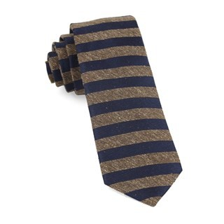 Meter Stripe Brown Tie