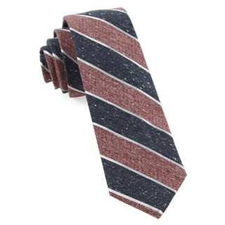 Splattered Repp Stripe Light Raspberry Tie