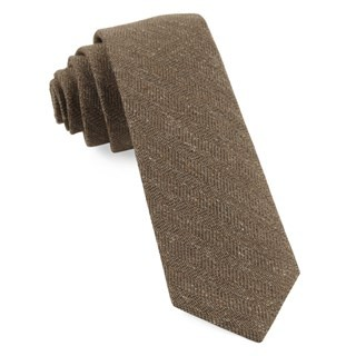 Threaded Zig-Zag Brown Tie