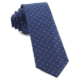 Dotted Dots Classic Blue Tie