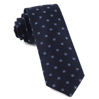 Primrose Flowers Light Blue Tie