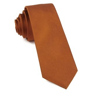 Grosgrain Solid Burnt Orange Tie