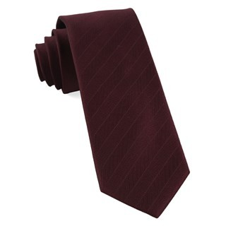 Herringbone Vow Burgundy Tie