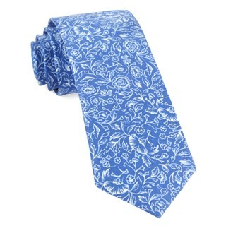 Bracken Blossom Royal Blue Tie