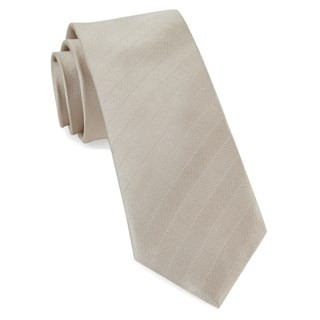 Herringbone Vow Light Champagne Tie