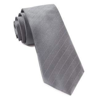 Herringbone Vow Grey Tie
