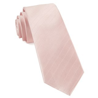 Herringbone Vow Blush Pink Tie
