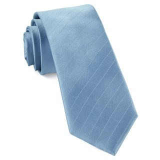 Herringbone Vow Steel Blue Tie