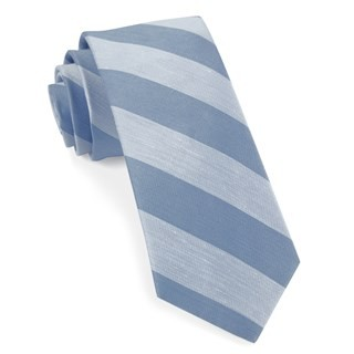 Rsvp Stripe Light Blue Tie