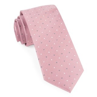 Suited Polka Dots Soft Pink Tie