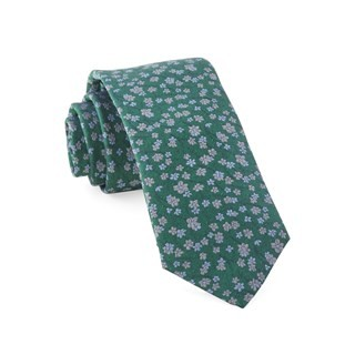 Free Fall Floral Kelly Green Tie
