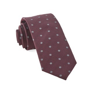 Dotted Hitch Burgundy Tie