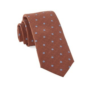 Dotted Hitch Orange Tie