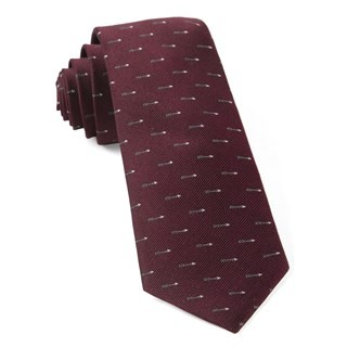 Arrow Zone Burgundy Tie