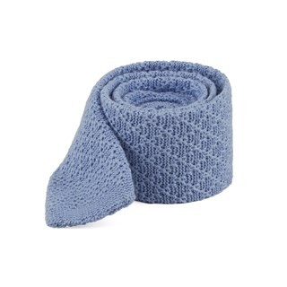 Field Solid Knit Light Blue Tie