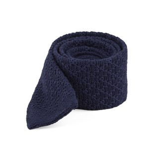 Field Solid Knit Navy Tie