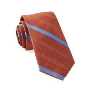 Goal Line Stripe Orange Tie