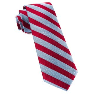 Lumber Stripe Red Tie