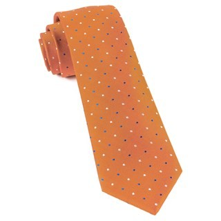 Jpl Dots Orange Tie