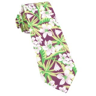 Tropic Of Linen Wine Tie