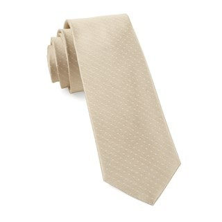 Mini Dots Light Champagne Tie