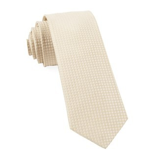 Be Married Checks Light Champagne Tie