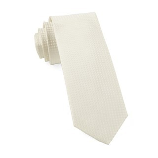 Be Married Checks Ivory Tie
