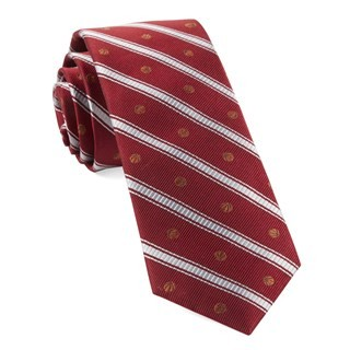 Basketball Stripe Red Tie