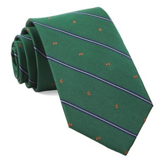 Football Stripe Kelly Green Tie