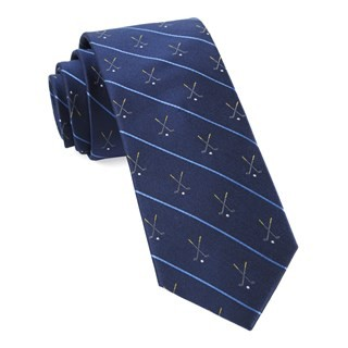 Golf Club Stripe Navy Tie
