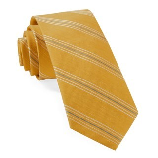 Derby Lane Stripe Mustard Tie