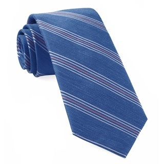 Derby Lane Stripe Light Cobalt Blue Tie