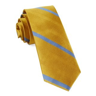 Goal Line Stripe Yellow Gold Tie