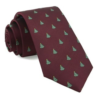 O Christmas Tree Burgundy Tie