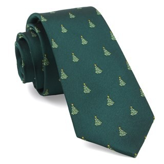 O Christmas Tree Hunter Green Tie
