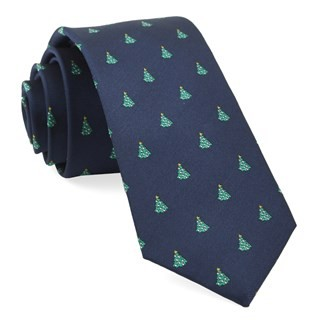 O Christmas Tree Navy Tie