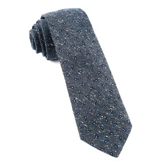Paisley Timber Deep Slate Blue Tie