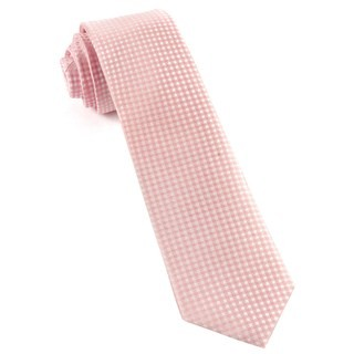 Be Married Checks Blush Pink Tie