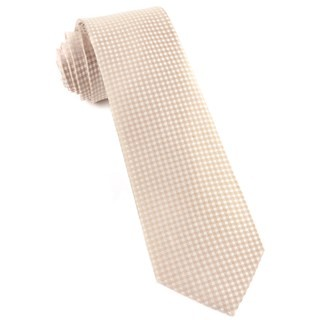 Be Married Checks Champagne Tie